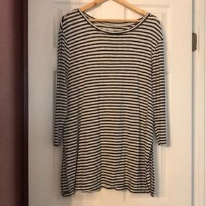 Striped tunic top - size XL